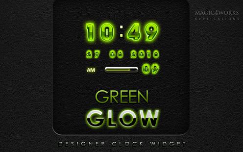 digital clock green glow