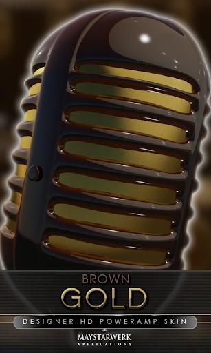 金褐色 poweramp 皮膚