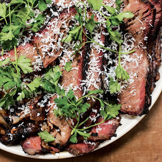 Smoked Short Ribs with Parsley Salad and Ricotta Salata