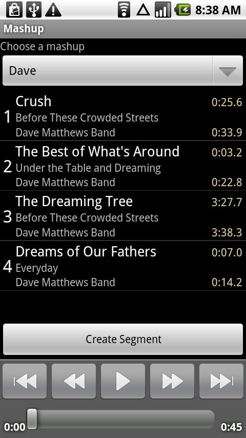 Mashup- screenshot