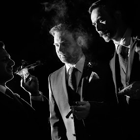 Up in smoke by Martin Hill - Wedding Groom ( wedding photography, martin hill photography )