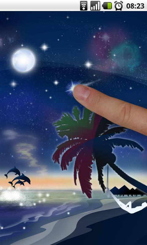 Galaxy Beach Live Wallpaper - screenshot