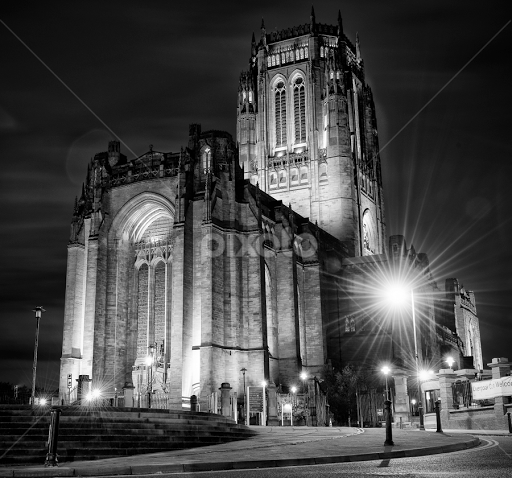 Liverpool anglican cathedral by graham peel black white buildings architecture bishop