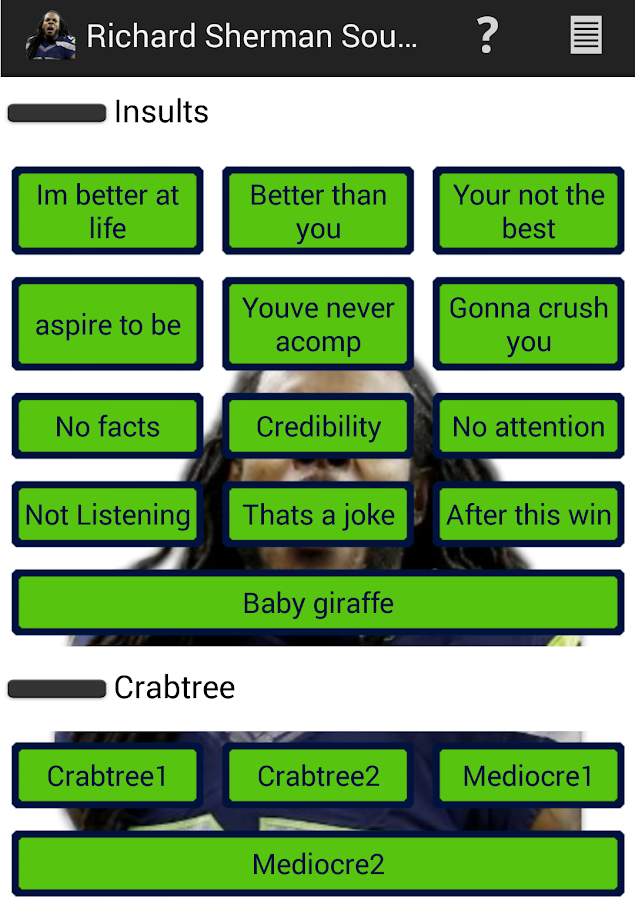 Richard Sherman Soundboard - screenshot