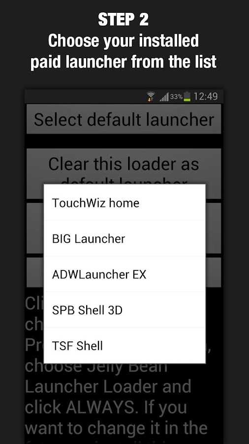 Jelly Bean Launcher Loader - screenshot