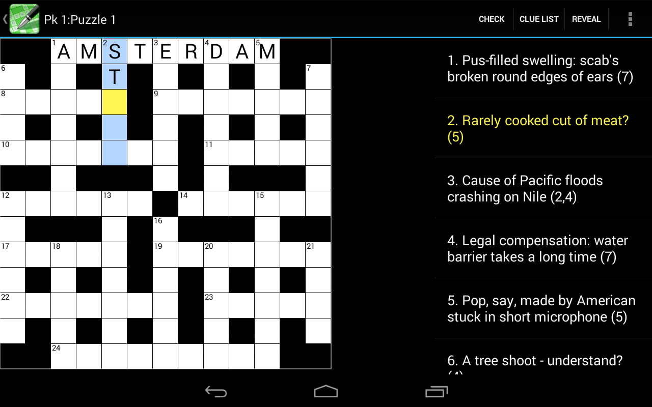 Crossword Cryptic Lite - screenshot