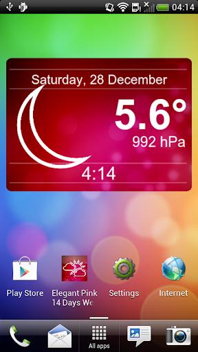 14 Days Elegant Pink Weather