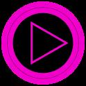 Poweramp skin TRON-PINK icon