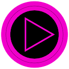 Poweramp skin TRON PINK icon