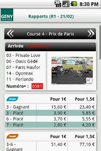 Geny Courses - Infos Turf - screenshot thumbnail