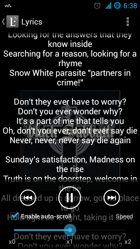 Lyrics Music Extension- screenshot