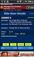 Screenshot of Rideshare4Less
