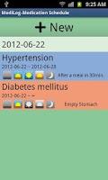 Screenshot of MediLog