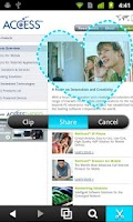Screenshot of NetFront Life Browser
