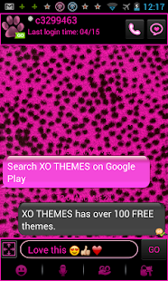 GO SMS PRO Pink Cheetah theme - screenshot thumbnail