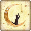 Black Cat and Crescent Moon