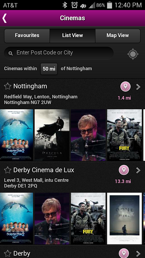 Showcase Cinemas UK - screenshot