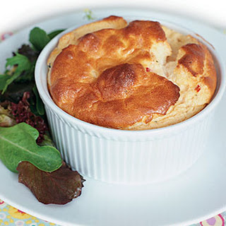 Goat Cheese, Sun-Dried Tomato, and Roasted Garlic Souffles.