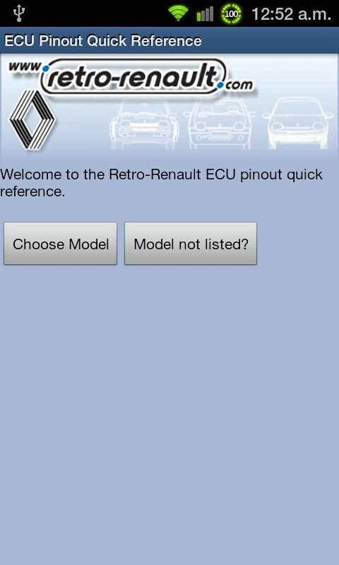 Retro-Renault ECU Pinouts - screenshot