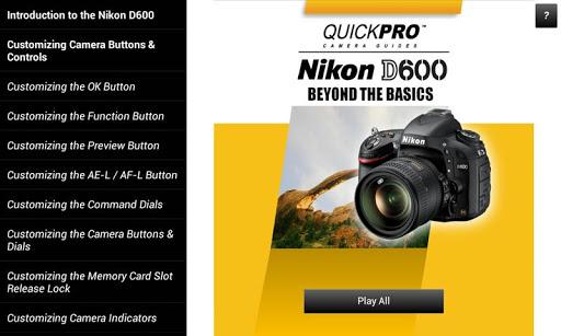 Guide to Nikon D600 Beyond