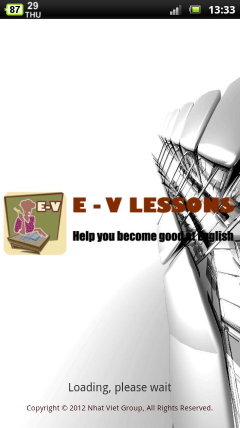E-V Lessons - screenshot