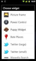 Screenshot of Puppy Widget