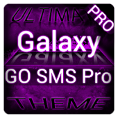 Purple Galaxy GO SMS Theme