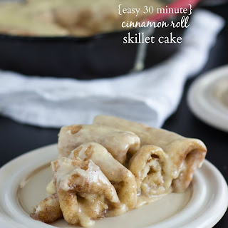 {Easy, 30 minute} Cinnamon Roll Skillet Cake