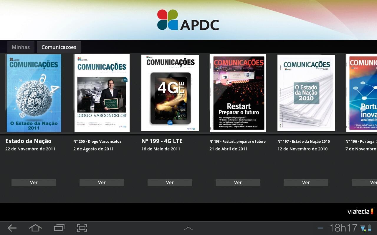 Comunicações- screenshot