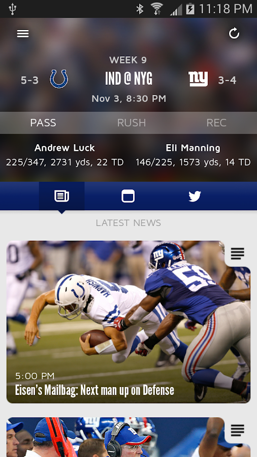 New York Giants Mobile- screenshot