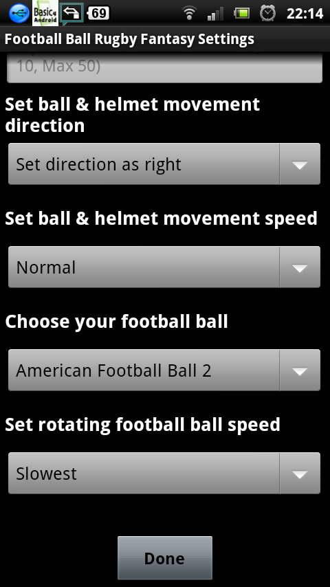 football ball rugby LWP - screenshot