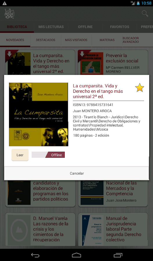 Biblioteca Virtual Tirant- screenshot