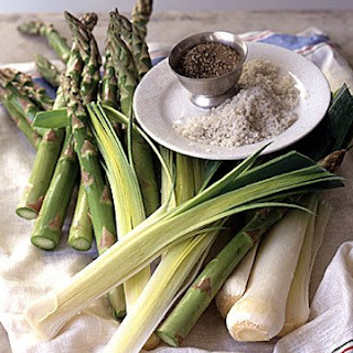 Oven-Roasted Asparagus and Leeks