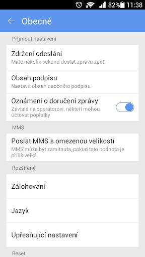 GO SMS Pro Czech package