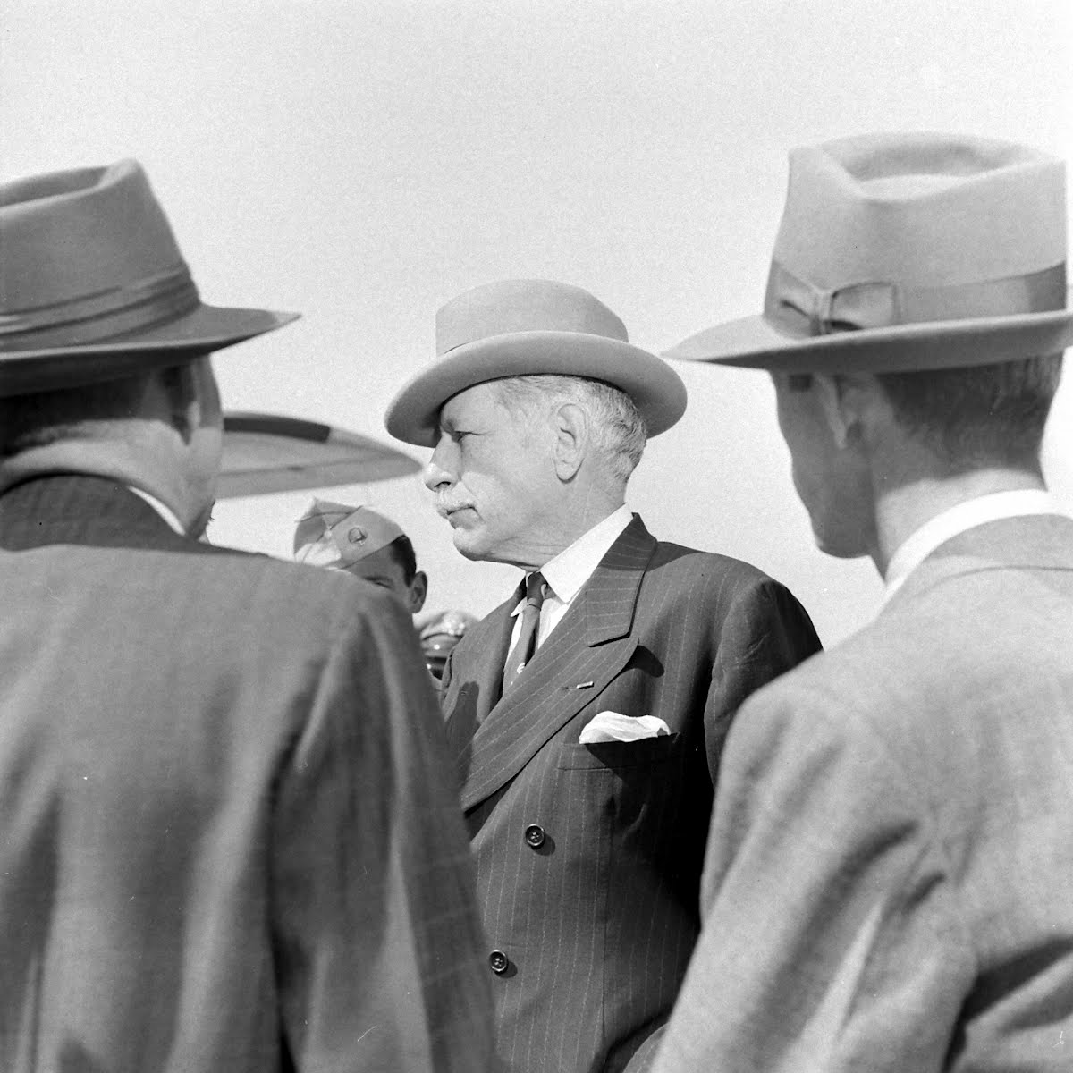 Amb. Hurley's Arrival In L.A.