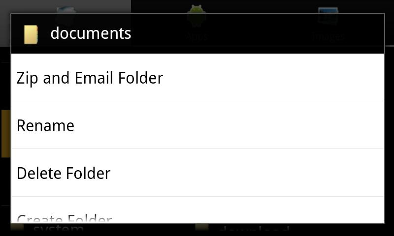 Android Explorer - screenshot