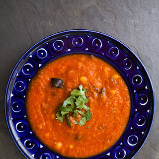 Roasted Eggplant and Tomato Soup