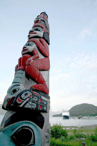totem-Haines-Alaska - A totem pole outside of Haines, Alaska.
