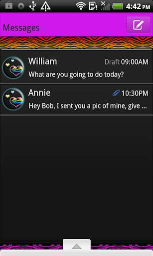 GO SMS THEME MultiColorZebra4U
