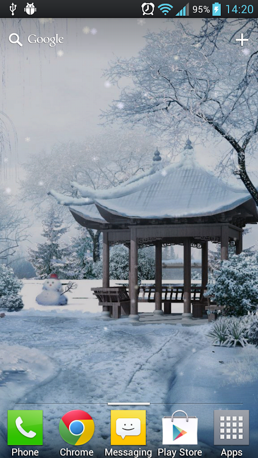 Snow In The Park LWP Free - screenshot