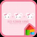 red ribbon hamster dodol theme icon