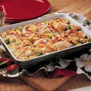 Baked Fish and Rice.