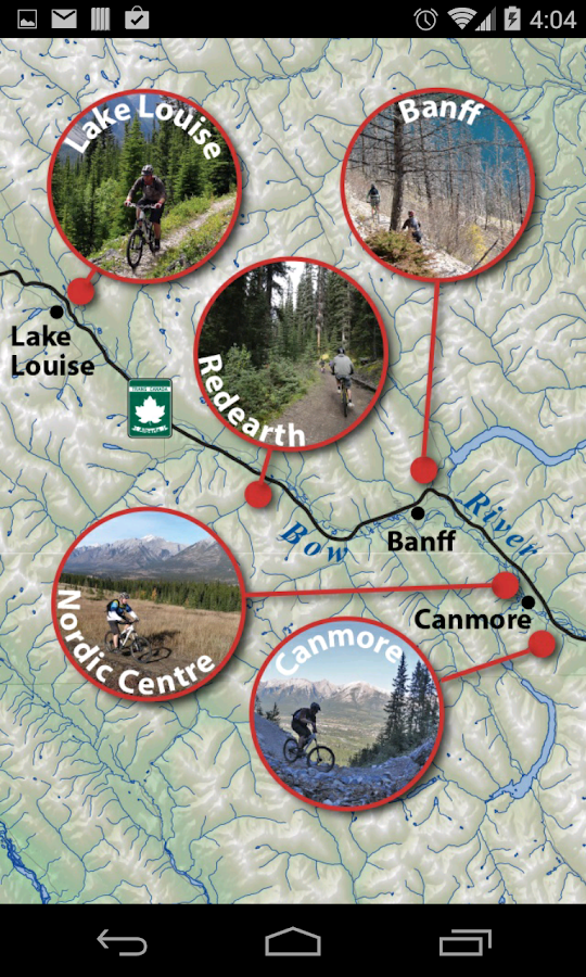 Bow Valley Mountain Bike Guide- screenshot