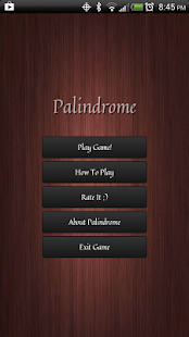 Palindrome - screenshot thumbnail