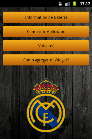 Real Madrid Battery Widget