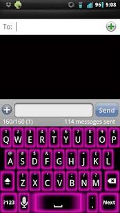 Pink Glow Keyboard Skin- screenshot thumbnail