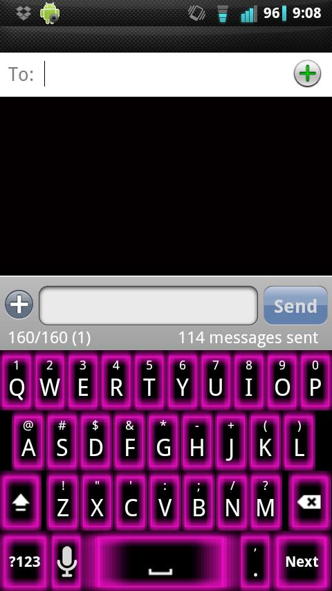 Pink Glow Keyboard Skin - screenshot