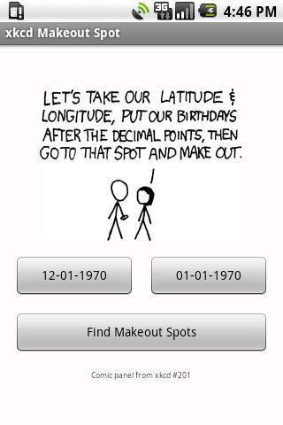 xkcd Make-Out Spot- screenshot