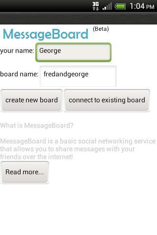 MessageBoard Beta
