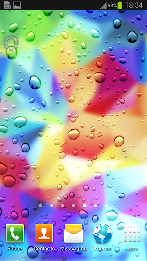Color Droplets Live Wallpaper